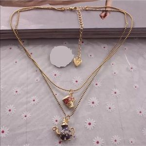 Jewelry - Double Chain Teapot & Teacup Necklace
